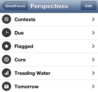 Stylistica Icons in OmniFocus for iPhone