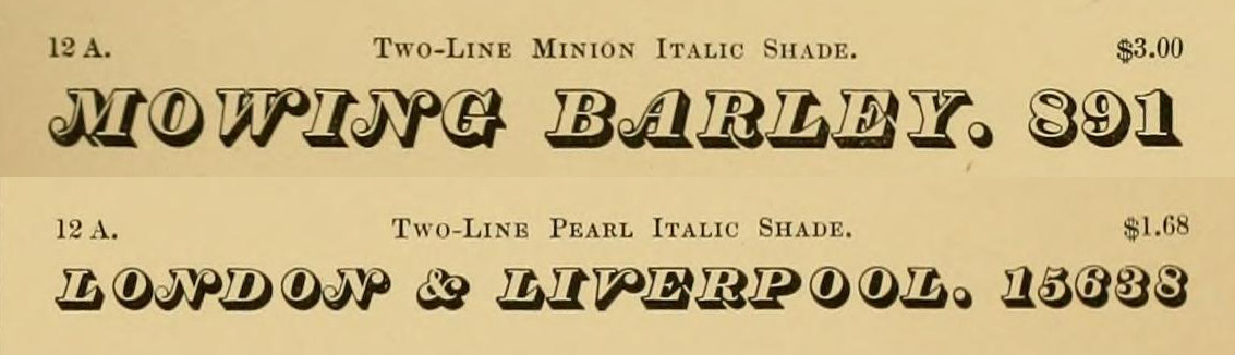 Boston Type Foundry Italic Shade