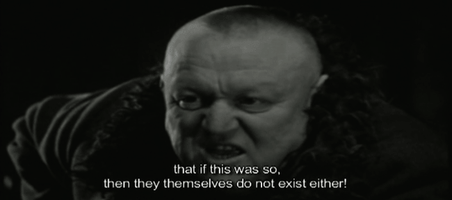 from The Turin Horse, some guy nattering on