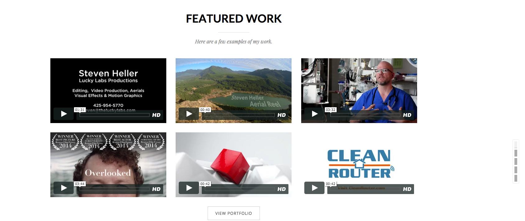 Vimeo blocks