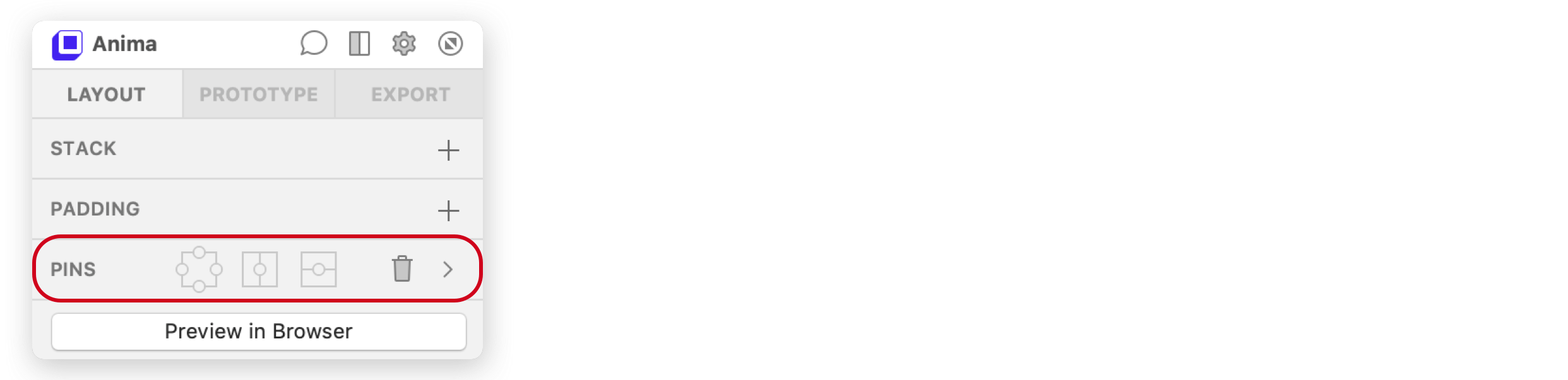 Basic Pins Panel
