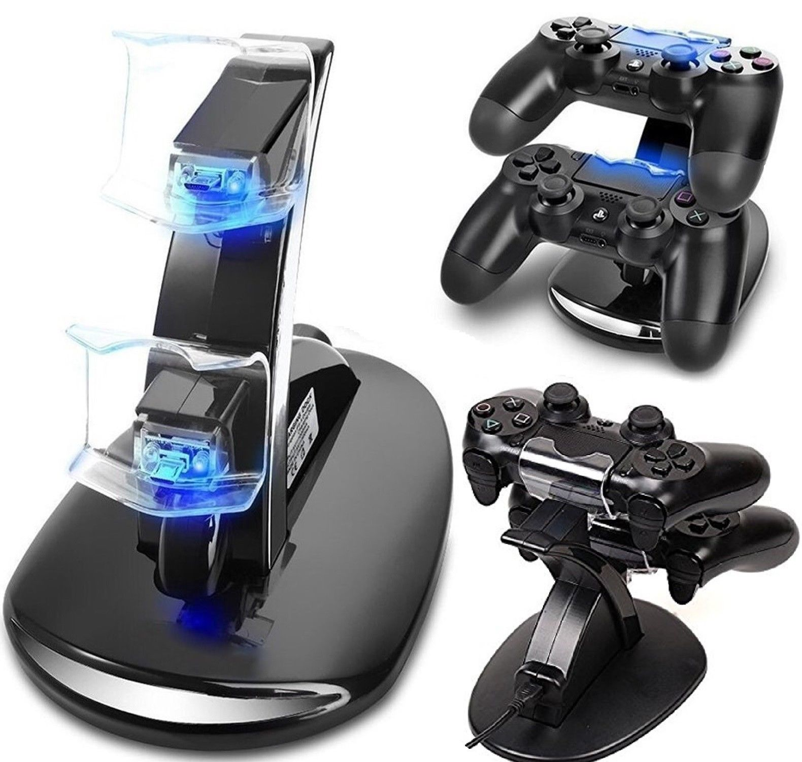 75% Off PS4 Controller Charging Station Dock Stand - Dualshock USB Port Charger Pad Base