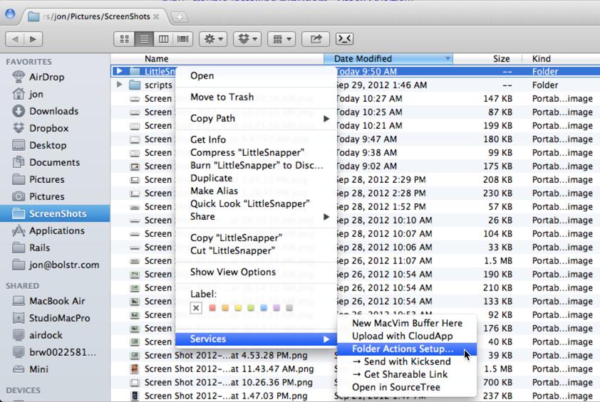 Finder Folder Action Menu