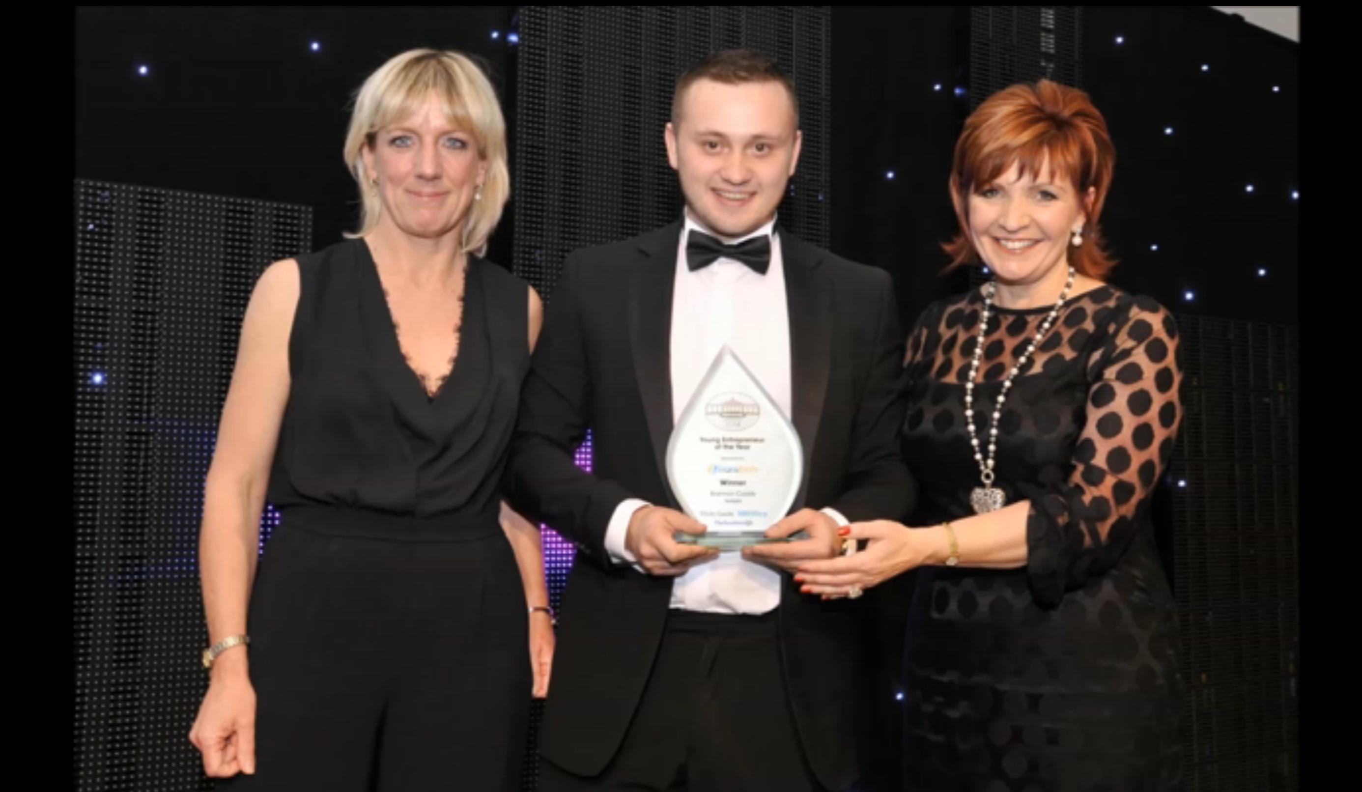 Brannan Coady recieving his award