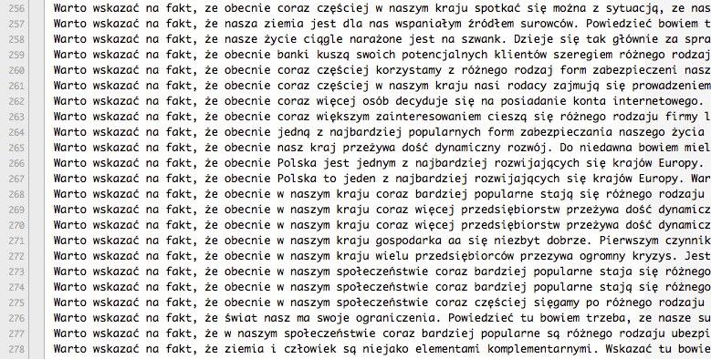 teksty ze spinnera z synonimami