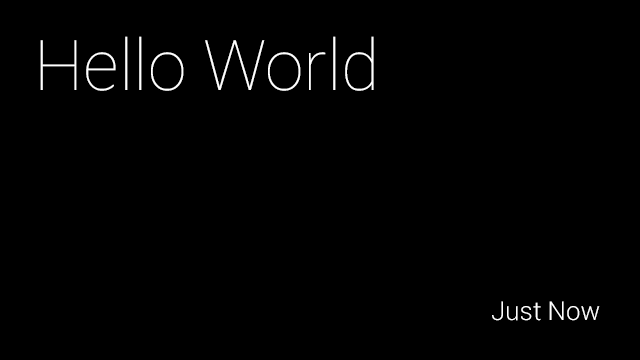 Google Glass Hello World display