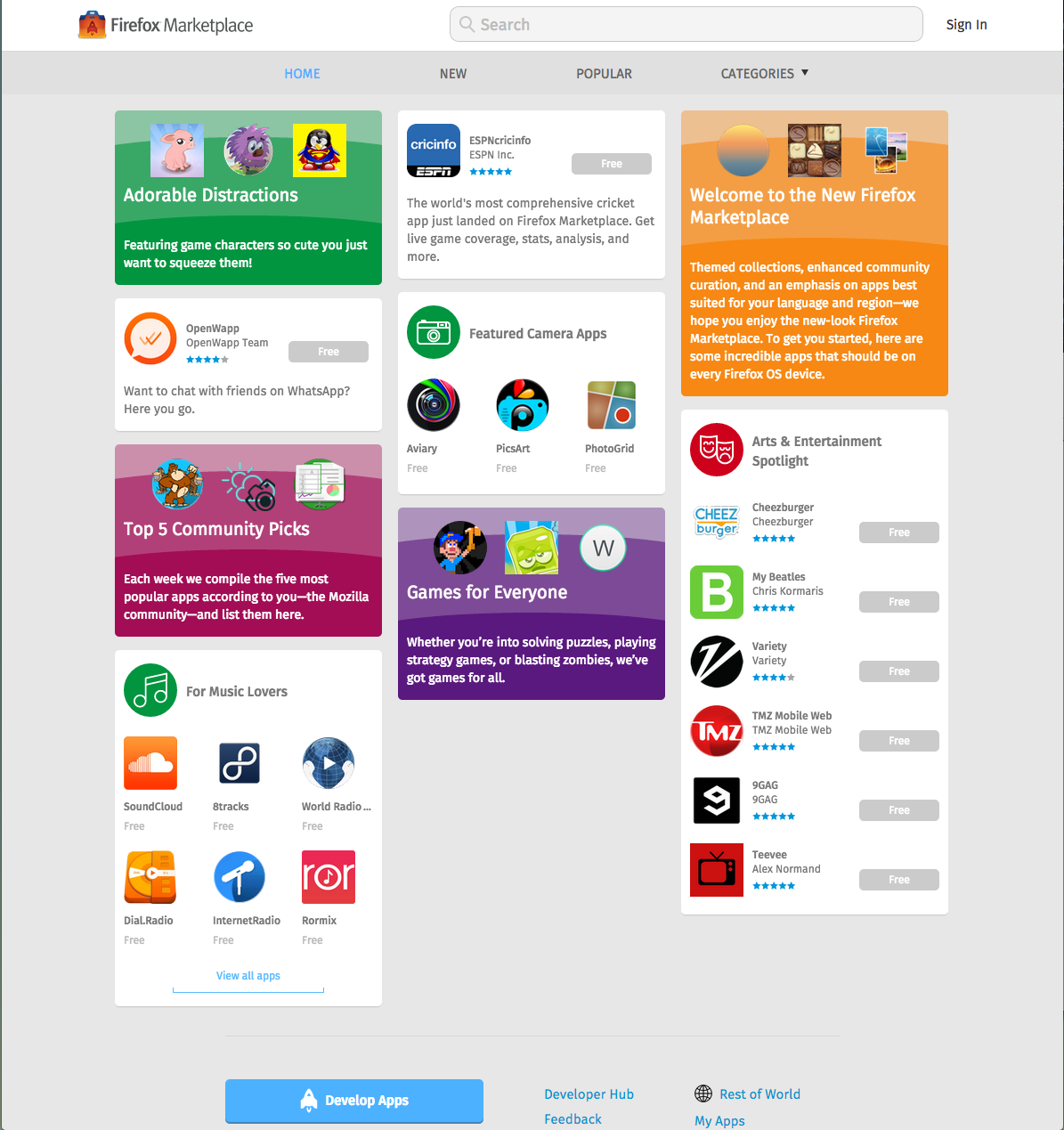 Firefox Marketplace Screen Shot