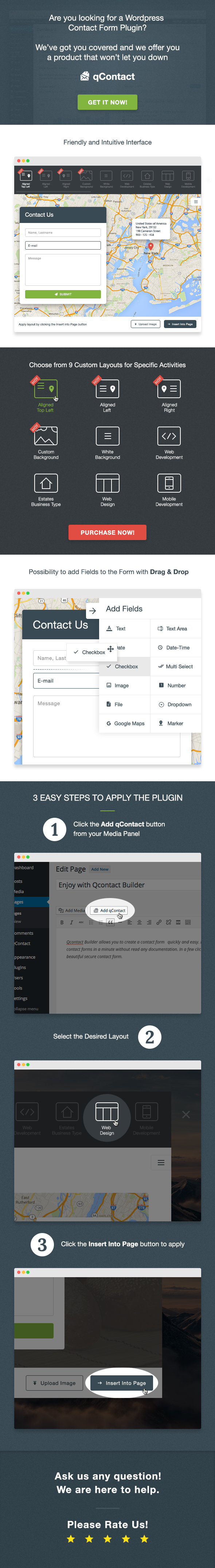 qContact Form Builder - WordPress contact page