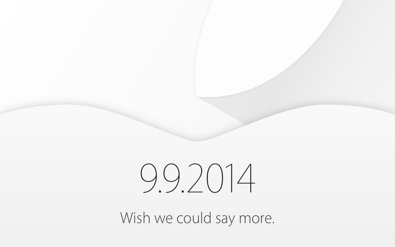 Apple Keynote invite - 09/09/2014