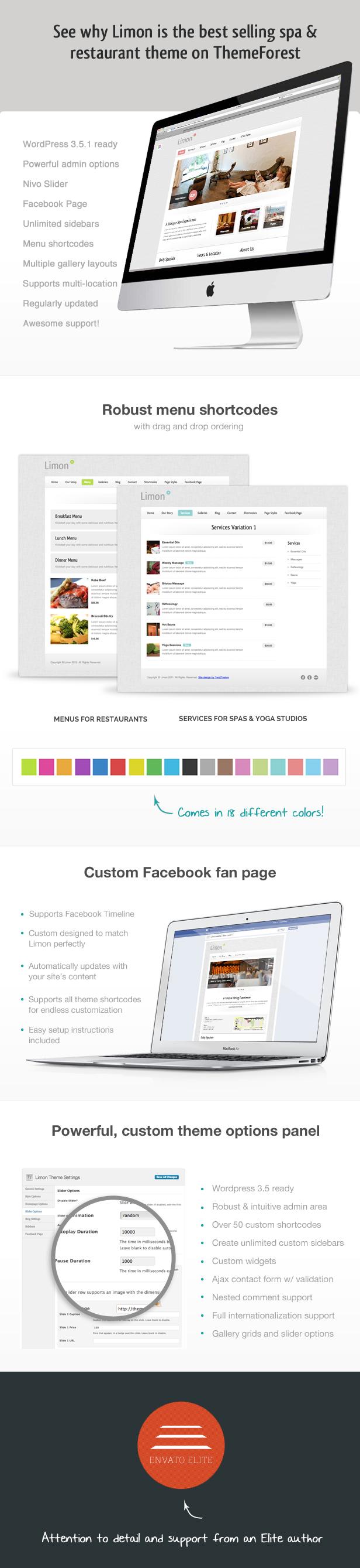 Limon - A Restaurant and Spa WordPress Theme - 1