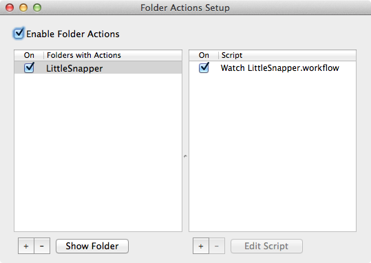 Folder Action Worked