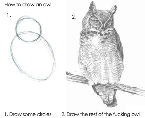 a helpful guide on drawing owls