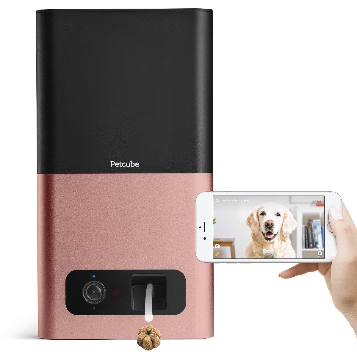 PRIME DAY DEAL: ¡59% OFF! Petcube Bites Pet Camera with Treat Dispenser. For Dogs and Cats. Works with Alexa