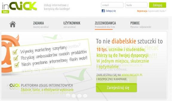 inclick - strona dla zleceniodawcow