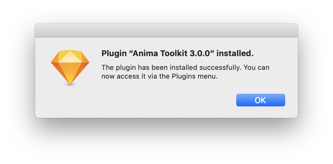 Anima Installation Notification