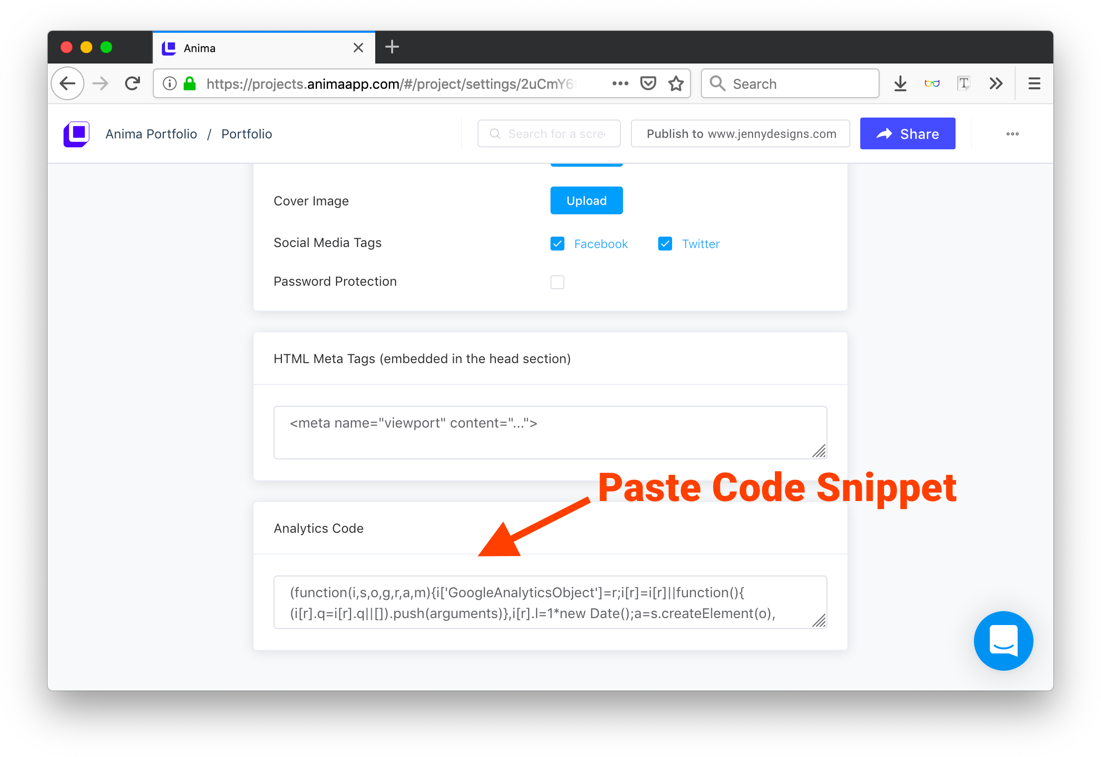 Paste Code Snippet