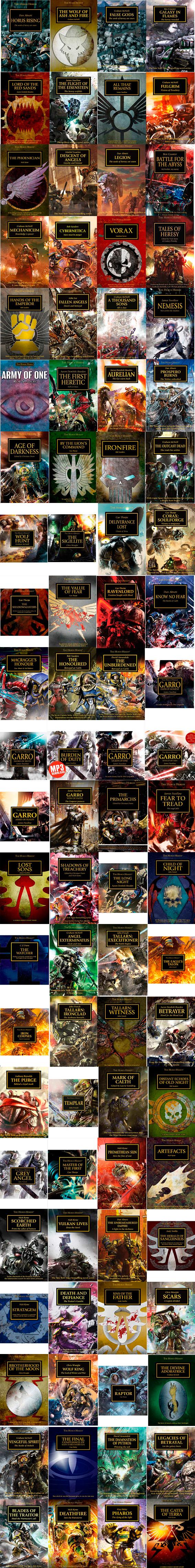 88 títulos forman la Herejía de Horus por el momento.